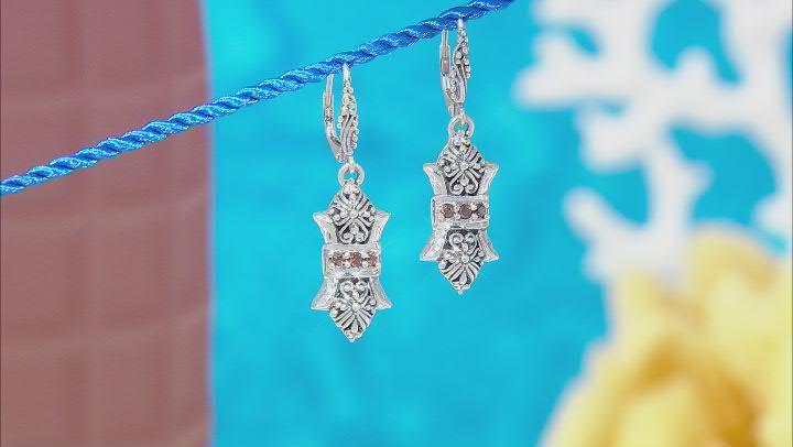 Champagne Zircon Sterling Silver Earrings .30ctw
