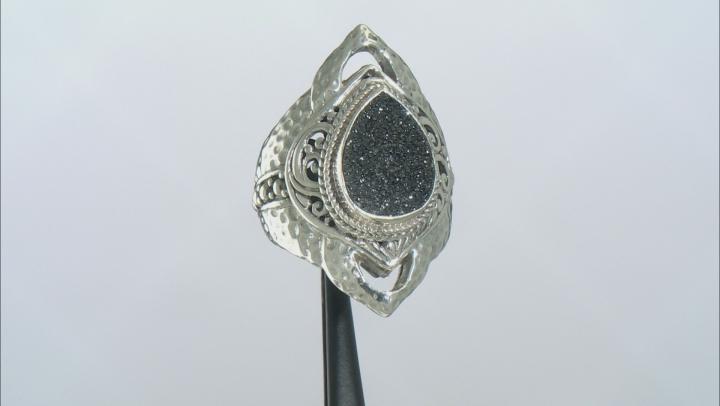 Black Night™ Drusy Quartz Sterling Silver Ring