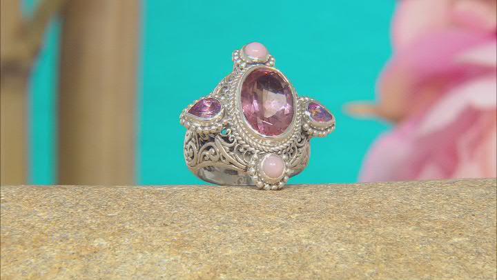 Sudsy Sells™ Mystic Quartz® Sterling Silver Ring 5.62ctw
