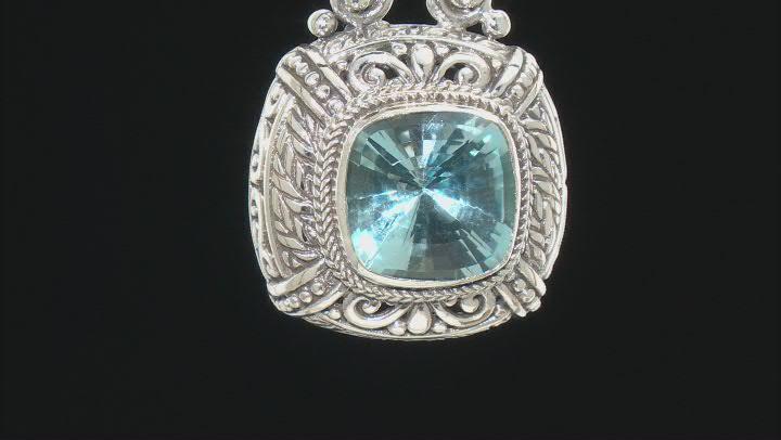 Blue Topaz Sterling Silver Pendant 7.07ctw