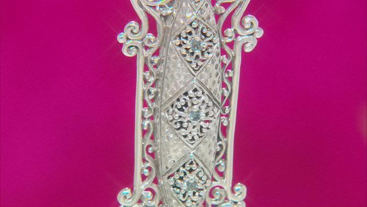 Blue Sapphire Sterling Silver Pendant .03ctw