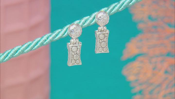 """Sterling Silver """"Unshamed Dependence"""" Earrings"""