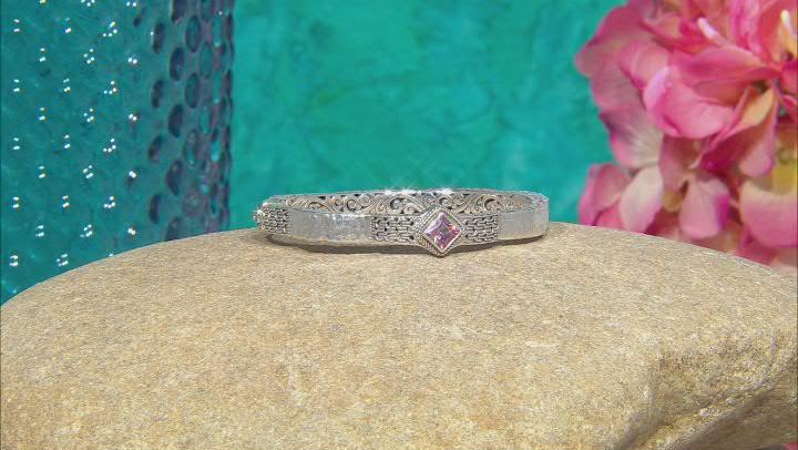 Bali Sunrise™ Topaz Silver Bangle Bracelet 1.15ct