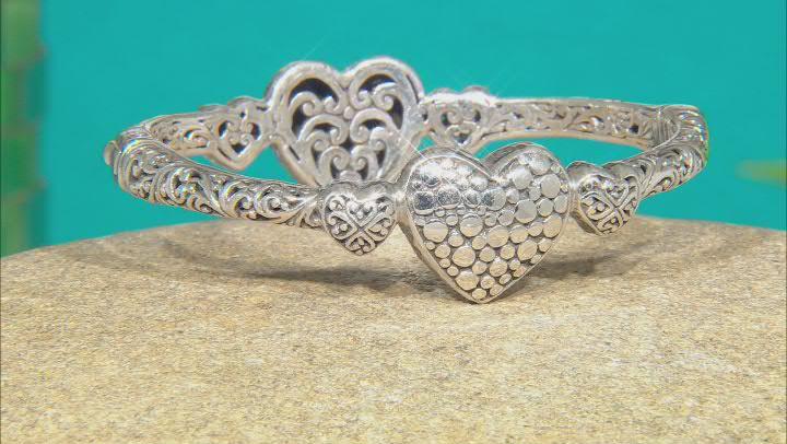 "Sterling Silver ""You Are Loved & Cherished"" Bangle Bracelet"