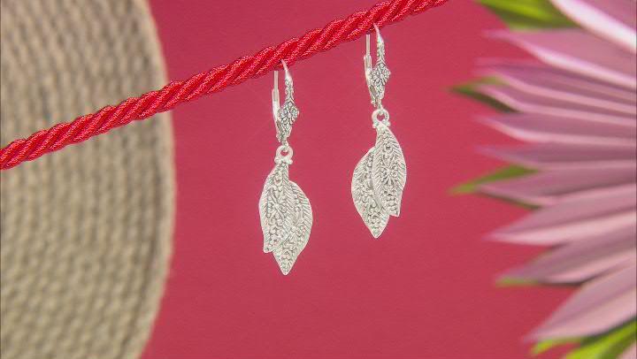 "Sterling Silver ""Sowing & Reaping"" Leaf Earrings"