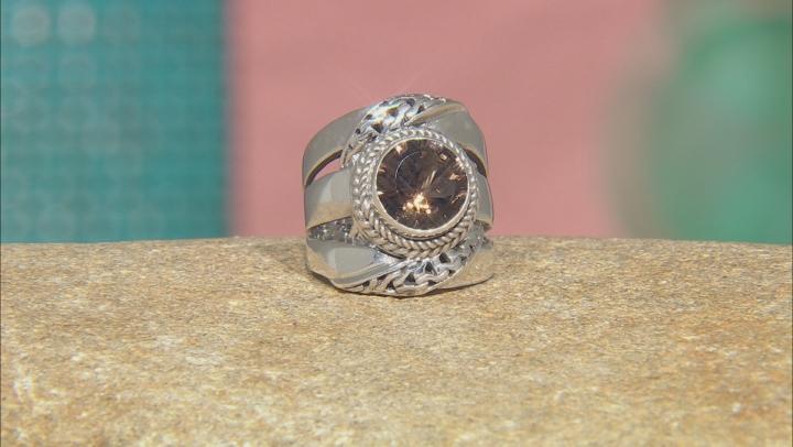 Brown Smoky Quartz Sterling Silver Ring 2.64ct