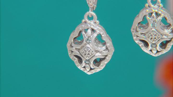 Blue Sapphire Sterling Silver Earrings .04ctw