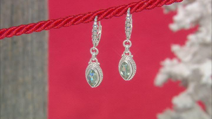 Green Reflections™ Quartz Silver Earrings 1.62ctw