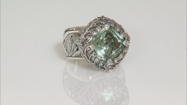 Green Prasiolite Sterling Silver Ring 4.50ctw