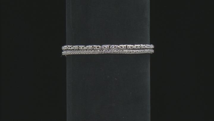 Sterling Silver Double Strand Bracelet