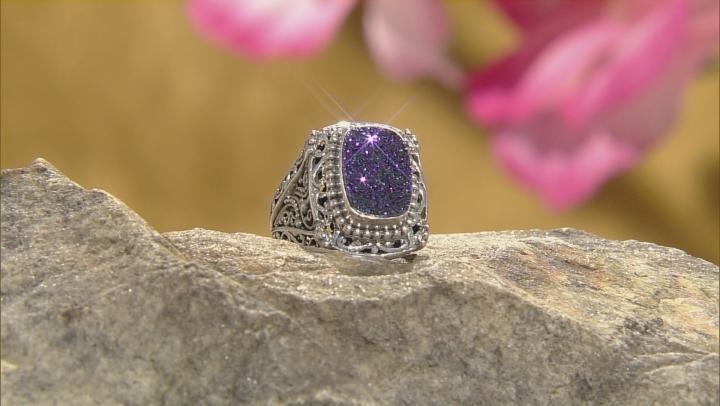 Violet Blush™ Drusy Quartz Silver Ring