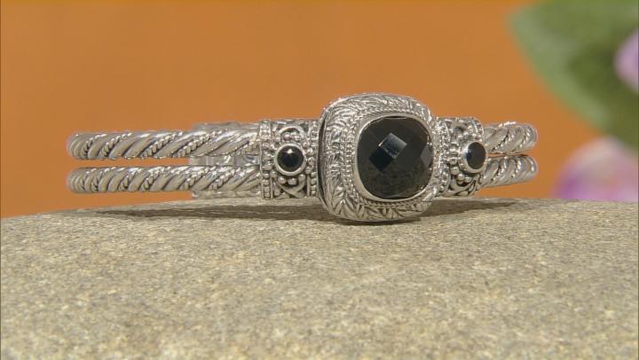 Black Spinel Silver Bracelet 5.96ctw