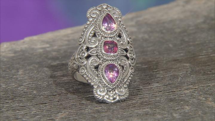 Rascal Pink™ Mystic Topaz® Silver Ring 2.20ctw