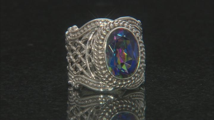 Richey Blue™ Quartz Silver Ring 4.50ctw