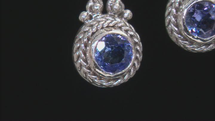 Blue Tanzanite Sterling Silver Earrings .29ctw