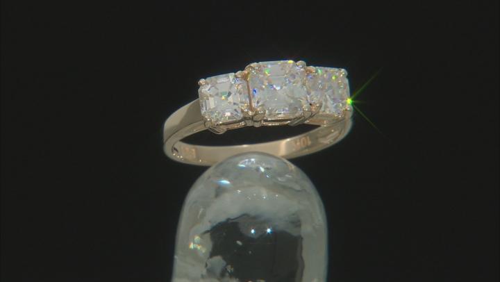 Fabulite Strontium Titanate 10k Yellow Gold Ring 3.60ctw