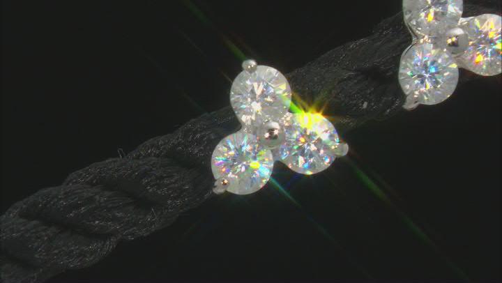 White Fabulite Strontium Titanate 10k White Gold Earrings 1.47ctw.