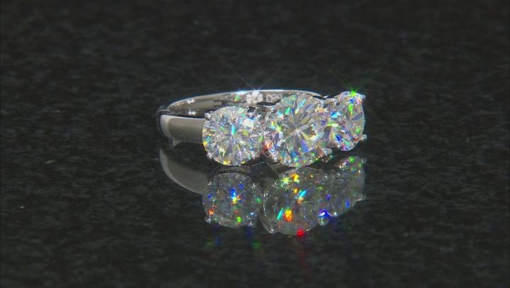 Fabulite Strontium Titanate  Rhodium Over Silver Ring 5.32ctw