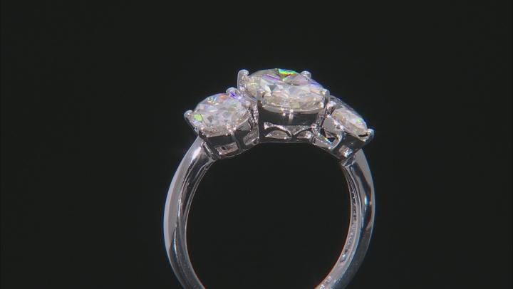 Fabulite Strontium Titanate rhodium over sterling silver ring 4.91ctw.