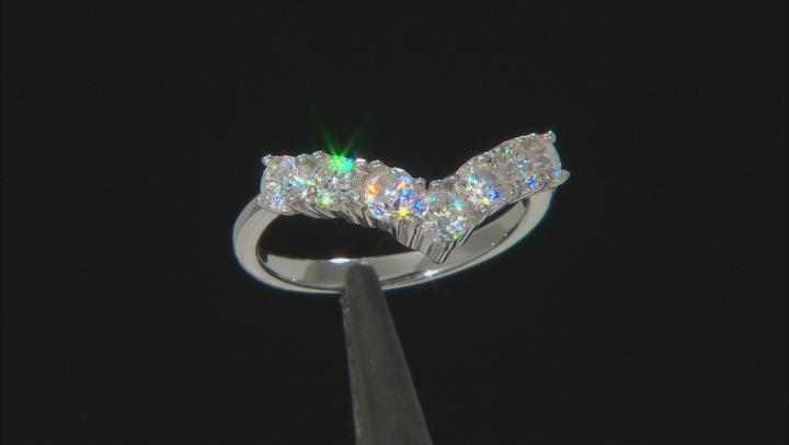Fabulite Strontium Titanate  rhodium over sterling silver ring 1.68ctw