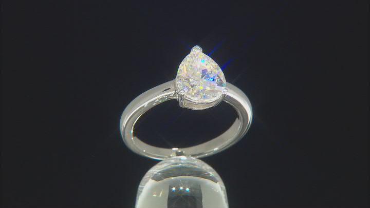 Fabulite Strontium Titanate rhodium over sterling silver ring 3.00ct.