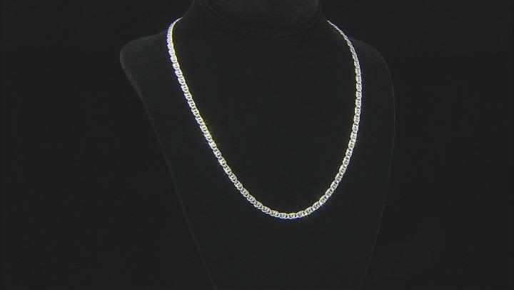 Sterling Silver MM Birdeye Chain Necklace 20 Inch
