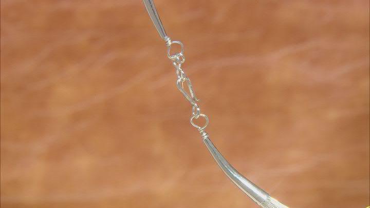 Liquid Silver 10 Strand Necklace 24.5 Inch