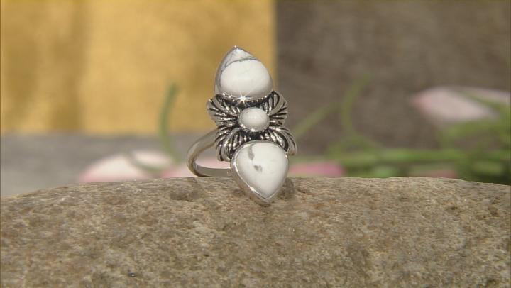 White Magnesite Silver Ring