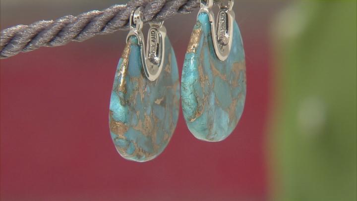 Blue Kingman Mohave Turquoise Sterling Silver Earrings