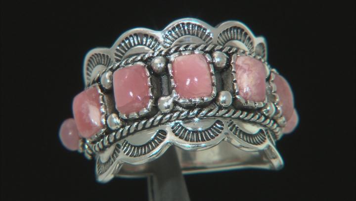 Pink Rhodochrosite Sterling Silver Ring