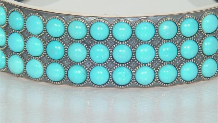Turquoise Sleeping Beauty Silver Cuff Bracelet
