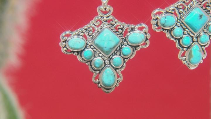 Turquoise Sterling Silver Dangle Earrings