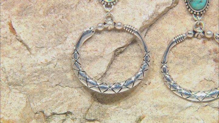 Turquoise Silver Snake Earrings