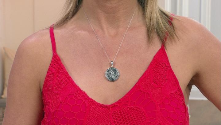 Pink Rhodochrosite Silver Enhancer With Chain