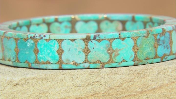 Turquoise Matrix Bangle Bracelet
