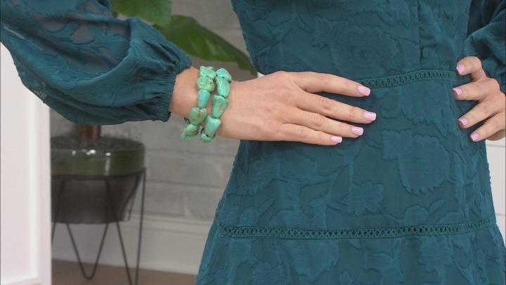 Turquoise 2 Stretch Bracelets Set