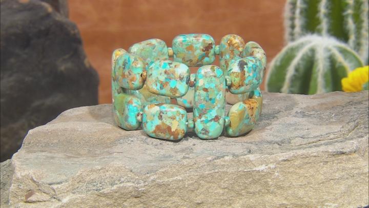 Turquoise Double Strand Stretch Bracelet