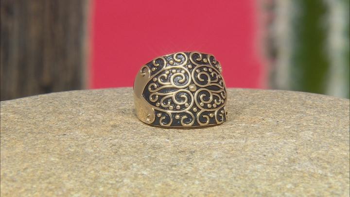 18k Gold Over Silver Filigree Ring