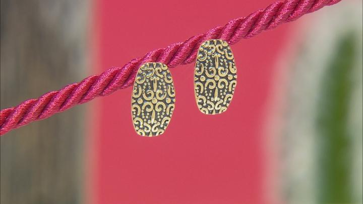 18k Gold Over Silver Filigree Stud Earrings