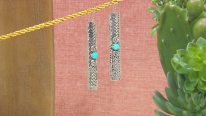 Sleeping Beauty Turquoise Silver Dangle Earrings