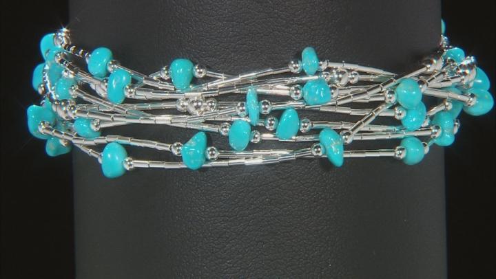 Sleeping Beauty Turquoise Liquid Silver Bracelet