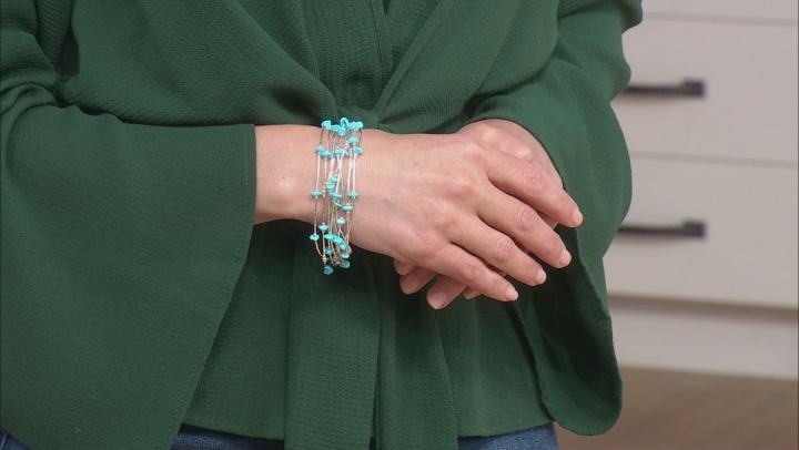 Sleeping Beauty Turquoise Silver Bracelet