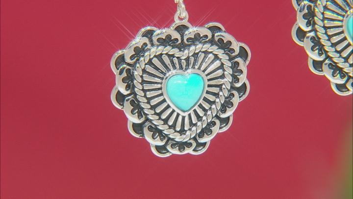 Sleeping Beauty Turquoise Rhodium Over Silver Earrings
