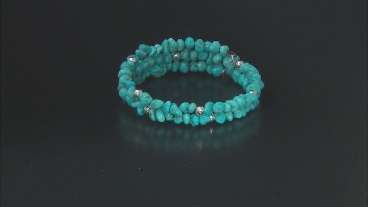 Sleeping Beauty Turquoise Sterling Silver Wrap Bracelet