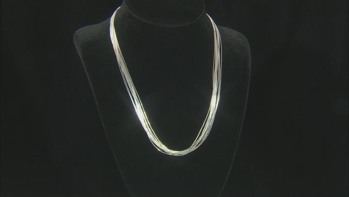 Liquid Silver 10 Strand Necklace