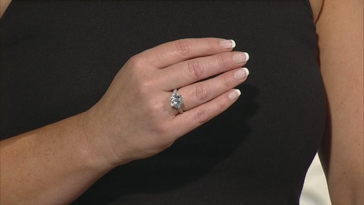 Cubic Zirconia Platineve Ring 5.73ctw