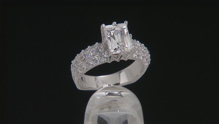 Cubic Zirconia Platineve Ring 4.85ctw