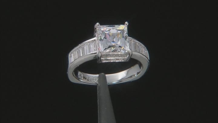 Cubic Zirconia Platineve Ring 5.93ctw