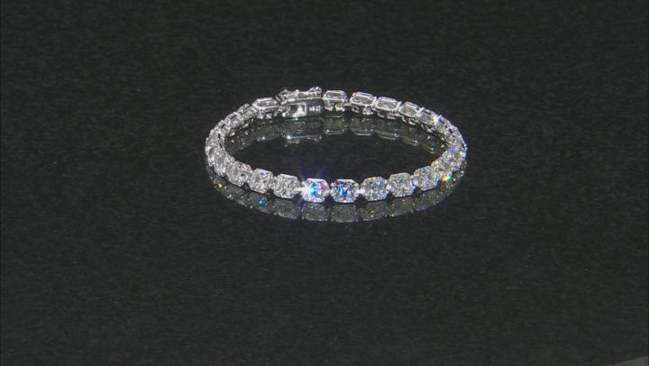 White Cubic Zirconia Platineve Bracelet 39.07ctw