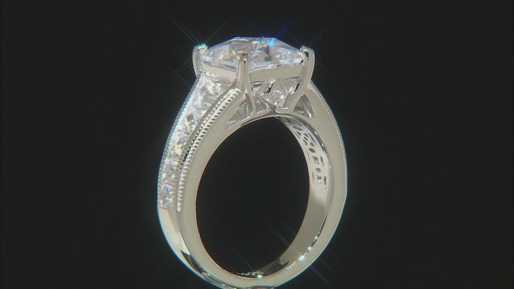 White Cubic Zirocnia Platineve Ring 8.83ctw